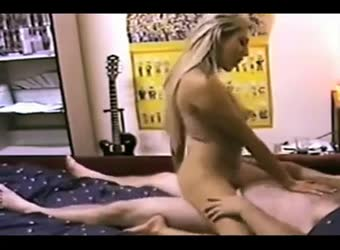 Blonde riding her man real hard