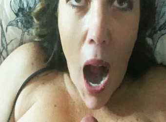 Sexy mature wife swallows every drop