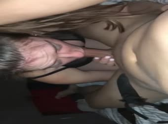 GF sucks and fucks in sexy lingerie