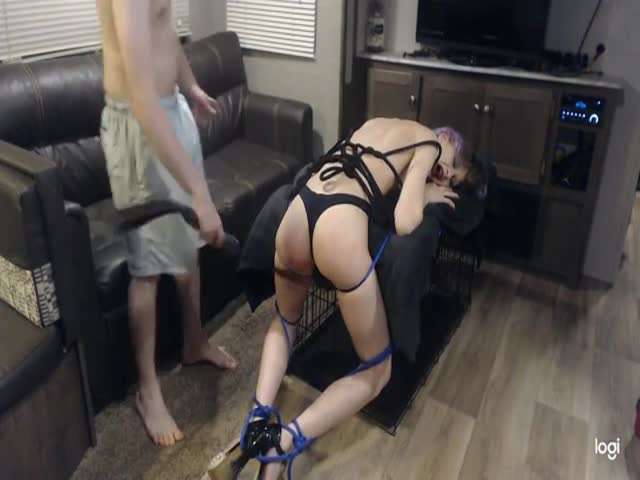 Tied Up Vibrator Fucked