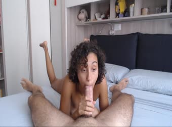 Italian Girl Sucks And Swallows His Big Cock