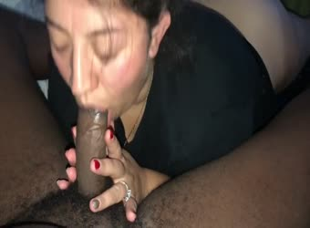 Wedding ring bling white wife sucking BBC