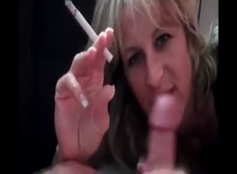 Horny mom sucks off her son
