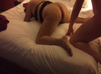 Chubby wife gets her ass licked and pussy pounded by friend