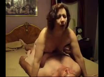 Mature wife riding her hubby with pleasure