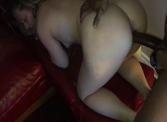 Huge BBC fucking his wet pussy wife